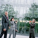Businessman Annoying Others with Megaphone