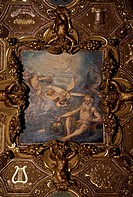 Detail from the Zodiac Room in Valentino castle, Savoy residence (UNESCO World Heritage List, 1997), Turin. Italy, 16th century.