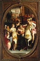 Darius' family before Alexander, by Jacopo Coppi (1523-1591). Studiolo (small study) of Francesco I, Palazzo Vecchio, Florence. Italy, 16th century.
