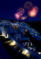 Fireworks over holiday resort