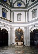 Sacristy, by architect Giuliano da Sangallo (1445-1516), Basilica of the Holy Spirit, Florence. Italy, 15th century.