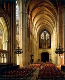 The nave of the Cathedral of St Peter and St Paul in Troyes, France, 13th-17th century.