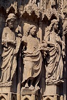 Decoration from the entrance of the Cathedral of Santa Maria de Regla, Leon, Castile and Leon. Detail. Spain, 13th-16th century.