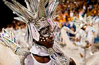 A dancer of Mocidade samba school performs during the Carnival parade at the Sambadrome in Rio de Janeiro, Brazil, 20 February 2012  The Carnival in R...