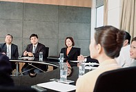 Executives in a Board Room