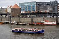 Motorboat ; Hamburg ; Germany ; Europe