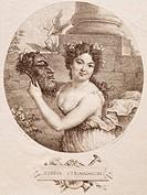 Portrait of Teresa Strinasacchi (18th-19th century), Italian operatic singer.  Milan, Museo Teatrale (Scala)
