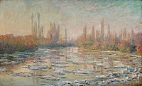 The thaw on the Seine, 1880, by Claude Monet (1840-1926), oil on canvas, 60x100 cm.  Paris, Musée D'Orsay (Art Gallery)