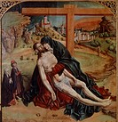 The Pieta', 1470, by Fernando Gallego (active 1468-1507).  Madrid, Museo Del Prado