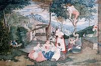 Italian country life, by Franz Theobald Horny (1798-1824).  Lubecca, Museum Fur Kunst Und Kulturgeschichte Der Hansestadt Lubeck