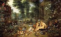 Allegory of smell, by Jan Brueghel the Elder, Velvet Bruegel (1568-1625).  Madrid, Museo Del Prado