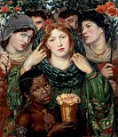 The beloved (The Bride), 1865-1866, by Dante Gabriel Rossetti (1828-1882), oil on canvas, 82x76 cm.  London, Tate Gallery