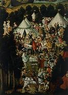 The banquet, detail from the Judgement of Paris and destruction of Troy, by Matthias Gerung (ca 1500-1568).  Paris, Musée Du Louvre