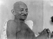 Mahatma Gandhi at Birla House ; Mumbai ; August 1942 ; India NO MR