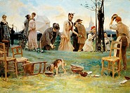 St George's day, by Vespasiano Bignami (1841-1929).  Private Collection