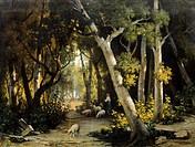 Landscape, by Alessandro Guardassoni (1819-1888).  Bologna, Fondazione Gualandi (Art Museum)