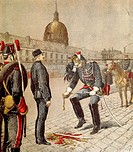 The Traitor: The Degradation of Alfred Dreyfus (1859-1935), cover of Le Petit Journal, 13 January 1895, by Henri Meyer (1844-1899). France, 19th centu...