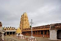 Virupaksha or Pampapati temple ; UNESCO World Heritage site Hampi Vijayanagara 1336-1726 A.D. ; district Bellary ; state Karnataka ; India
