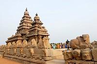 The shore temple in Mahabalipuram ; Tamil Nadu ; India
