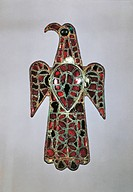 Bronze fibula in shape of an eagle from Calatayud near Zaragoza. Visigothic civilization.  Madrid, Museo Arqueológico Nacional