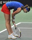Czech´s Petra Kvitova during the 1st round Fed Cup match against Samantha Stosur, Czech Republic vs Australia in Ostrava, Czech Republic, February 10,...