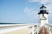Lighthouse on sandy beach