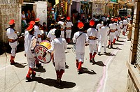 A musical band in religious procession of Pipa Jayanti_Jodhpur Rajasthan India
