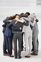 Business people in huddle