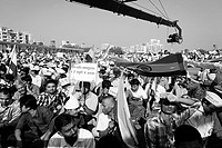 Video Camera Mounted on Crane Coverage Crowd Mumbai Maharashtra India Asia Dec 2011