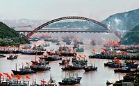 Fishing fectival of Shipu town,Xiangshan district,Zhejiang province,China