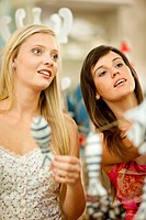 Woman shopping together in store