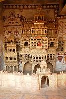 Clay replica of Moomal Ki Meri palace of Moomal princess ; Jaisalmer ; Rajasthan ; India