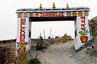 Entrance of manang , Nepal , Asia