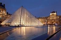 Louvre museum, Paris, Ile de France, France