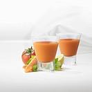 Glasses of tomato juice
