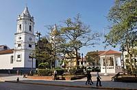 Cathedral on the Plaza de la Independencia, Casco Antiguo the historic district of Panama City, Republic of Panama, Central America