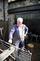 Blacksmith, Bakewell, Derbyshire, England.