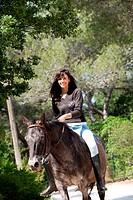 Teenage girl nature horse