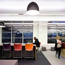 University of Westminister _ Harrow Campus, Harrow, United Kingdom. Architect: Hawkins Brown Architects LLP, 2013. Library interior shot with seating ...