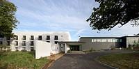 The Lifehouse, Thorpe Hall Spa, Thorpe_Le_Soken, United Kingdom. Architect: Manser Practice Architects, 2010. Main entrance front elevation.
