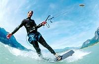 Kite surfer  Squamish  British Columbia  Canada