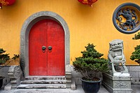 Colourful Door, Jade Buddha Temple, Shanghai, China