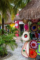 Mexican shops and stores at the cruise ship terminal Puerta Maya in Cozumel, Mexico