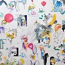Lady Diana wallpaper in Kensington Palace