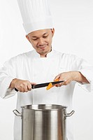 Asian chef preparing a wholesome meal