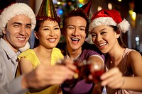 Group of people at Christmas party