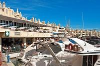 Europe, Spain, Andalusia, Benalmadena Costa, Puerto deportivo de Benalmadena, sports harbour, Puerto Marina, building, construction, tourism, architec...