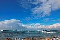 Picturesque coast Mediterranean sea