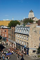 Saint-Jean street in Old Quebec district, Quebec City, Quebec province, Canada, North America