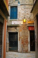 Ancient alley .Venice Italy.
